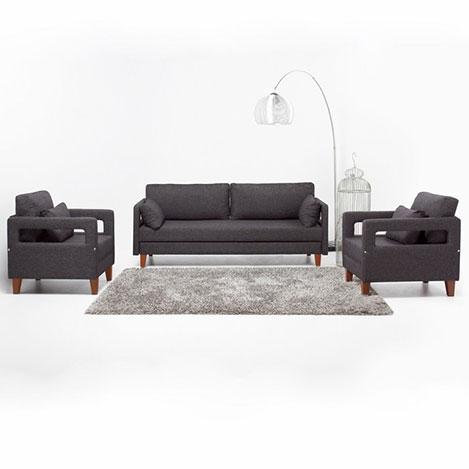 Evdebiz Comfort Yaşam Serisi Yataklı Koltuk Takımı (3+1+1) - Gri