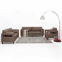 Evdebiz Comfort Yaşam Serisi Yataklı Koltuk Takımı (3+2+1) - Kahve