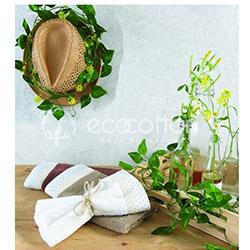 Ecocotton Organik Candy 3'lü Mutfak Havlu Seti - Kahverengi