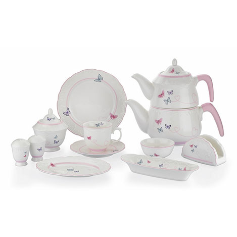 Schafer 8098 34 Parça Moin Porselen Kahvaltı Takımı