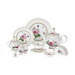 W.B.Schafer 27201 45 Parça Morgen Porselen Kahvaltı Seti