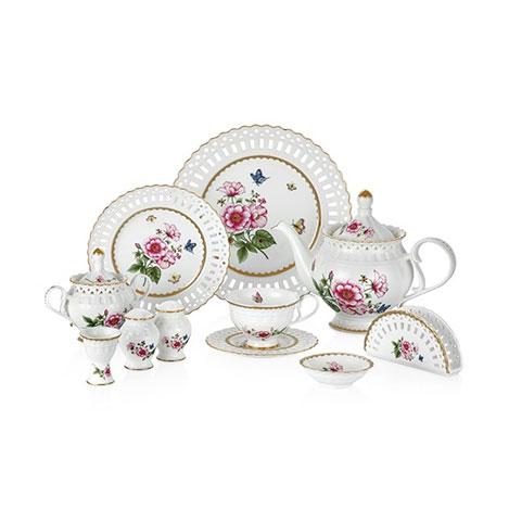 Resim  W.B.Schafer 27201 45 Parça Morgen Porselen Kahvaltı Seti