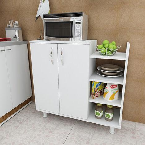 Resim  Arnetti Three Çok Amaçlı Mutfak Dolabı - Beyaz