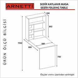 Arnetti Sedir Katlanır Çalışma Masası - Beyaz