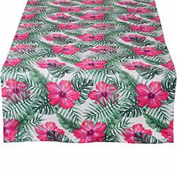 Aliz Tropikal Çiçekler Runner - 44x144 cm
