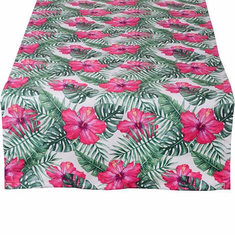 Resim  Aliz Tropikal Çiçekler Runner - 44x144 cm