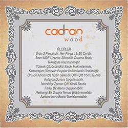 Cadran Wood SCW1 Mdf Tablo - 3 Parçalı