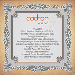 Cadran Wood SCW43 Mdf Tablo - 3 Parçalı