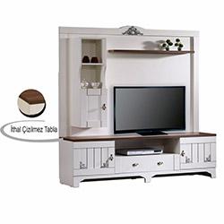 Pasific Home Gazel Yaşam Tv Ünitesi - Beyaz / Ceviz