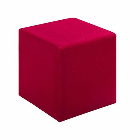 Resim  Evdebiz Kare Puf - Kırmızı