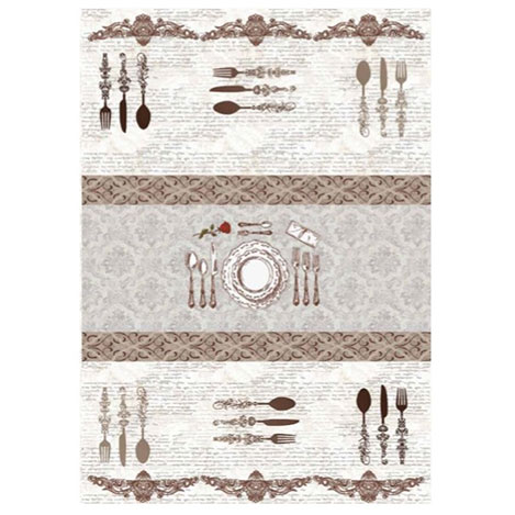 Resim  Brillant 101 Dinner Mutfak Halısı - 130x200 cm
