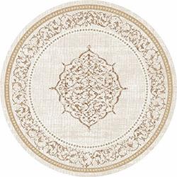 Brillant 802 Firuze Püsküllü Yuvarlak Halı - 150x150 cm