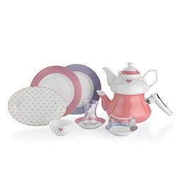 Schafer 8765 31 Parça In-Glaze Porselen Brillant Kahvaltı Seti