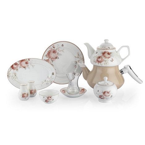 Resim  Schafer 8766 31 Parça In-Glaze Porselen Brillant Kahvaltı Seti