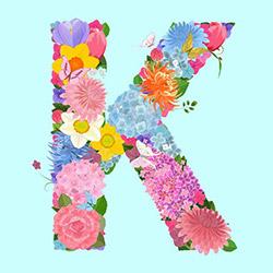 K Dekorasyon KMHRF-1108 Mdf Harf Tablo - 15x15 cm