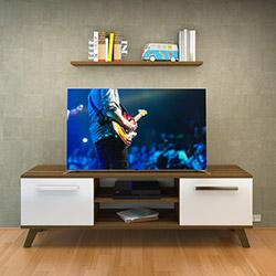 Nur Mobilya Ayza Tv Ünitesi - Ceviz / Beyaz