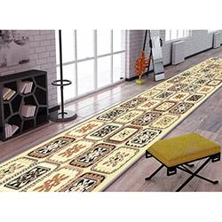 Confetti Ganj Bukle Yolluk (Bej) - 80x250 cm