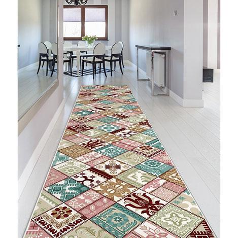 Confetti Havran Bukle Yolluk (Bordo) - 80x230 cm