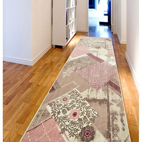 Resim  Confetti Ordüzü Yolluk (Koyu Pembe) - 80x250 cm