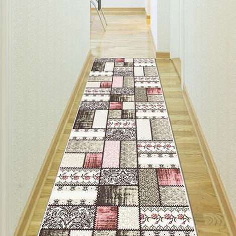 Confetti Sürgü Bukle Yolluk (Pembe) - 80x160 cm