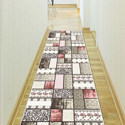 Confetti Sürgü Bukle Yolluk (Pembe) - 80x230 cm