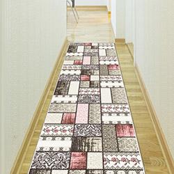 Confetti Sürgü Bukle Yolluk (Pembe) - 80x250 cm