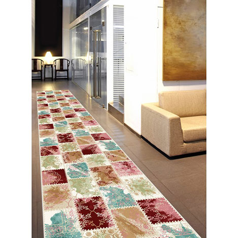 Resim  Confetti Tohma Bukle Yolluk (Bordo) - 80x350 cm