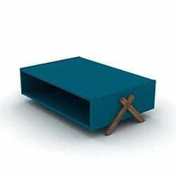 Rafevi Kipp Orta Sehpa - Ceviz / Mavi