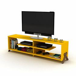 Rafevi Kipp Tv Ünitesi - Ceviz / Sarı