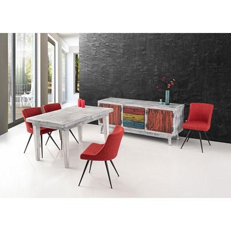 Resim  House Line Petunya Masa Konsol Sandalye Takımı - Eskitme / Mercan