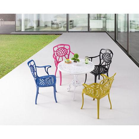 Resim  House Line Lagün Masa Sandalye Takımı - Beyaz / Renkli