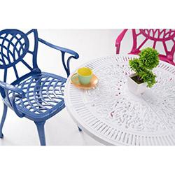 House Line Lagün Masa Sandalye Takımı - Beyaz / Renkli
