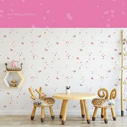 Milky Baby 427-2 Kelebek Desenli Çocuk Duvar Kağıdı (5 m²)