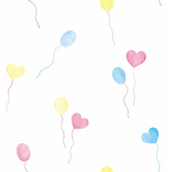 Milky Baby 432-2 Renkli Balon Desenli Çocuk Duvar Kağıdı (5 m²)