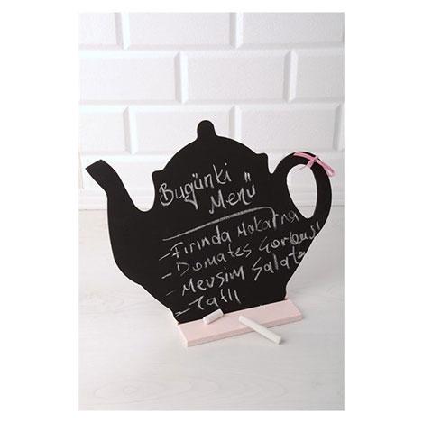 Resim  Emka Dekoratif Çaydanlık Kara Yazı Tahtası
