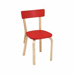 Vitale Tobi Masa Sandalye Seti - Kırmızı / Akçaağaç