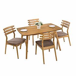 Vitale Max Masa Sandalye Seti - Açık Kahve