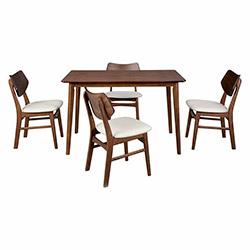 Vitale Fashion Masa Sandalye Seti - Ceviz / Beyaz