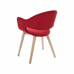 Vitale Gelso Sandalye - Kırmızı / Akçaağaç
