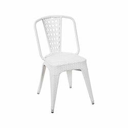 Vitale Tolix Rattan-S Sandalye - Beyaz