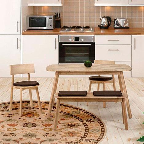 Resim  Vitale Seven Masa Sandalye Seti - Akçaağaç / Kahverengi