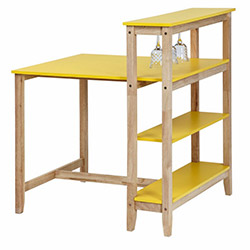 Vitale Omero Masa Sandalye Seti - Sarı / Akçaağaç