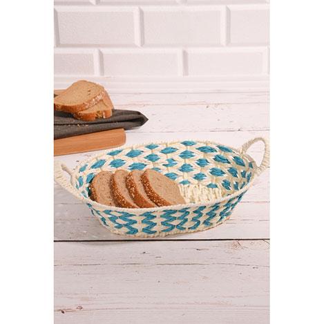 Resim  Kitchen World SPT-090 Metal Üzeri Hasır Örme Oval Ekmek Sepeti