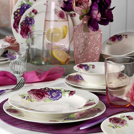 Kütahya Porselen 9416 Desen Bone Jasmine 24 Parça Yemek Seti