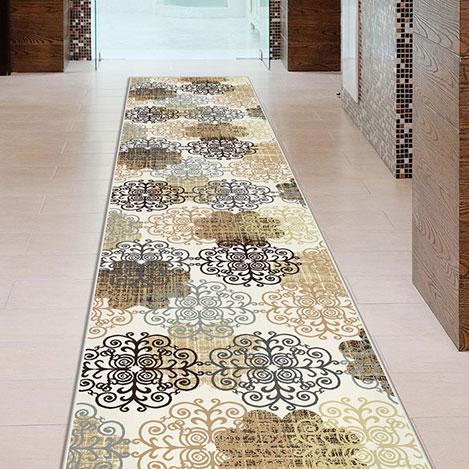 Resim  Confetti Tarsus Halı (Kahverengi) - 120x250 cm