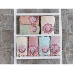 Minteks Paris Rosette El Havlusu (Pudra) - 50x90 cm