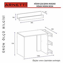 Arnetti Nisan Çalışma Masası - Beyaz