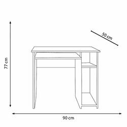 Eyibil Mobilya 2'li 5 Raflı Kitaplıklı Çalışma Masası - Beyaz