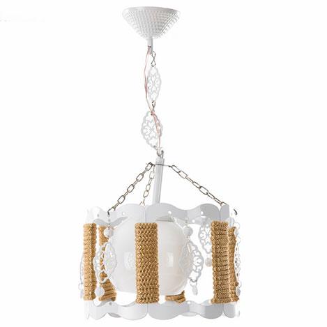 Safir Light Şafak Tekli Halatlı Sarkıt - Beyaz