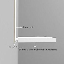Modacanvas TKMD249 Tablo Raf - 20x40 cm